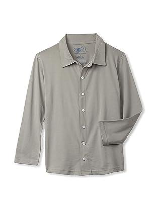 Soft Clothing Kid's Oliver Shirt (London Gray)