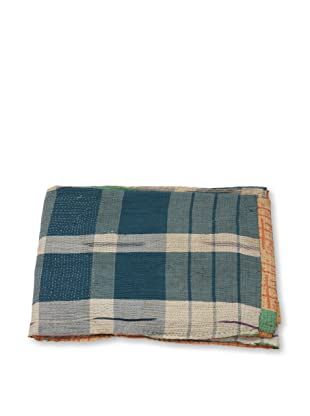 Mili Designs NYC One of a Kind Vintage Kantha Throw, #227