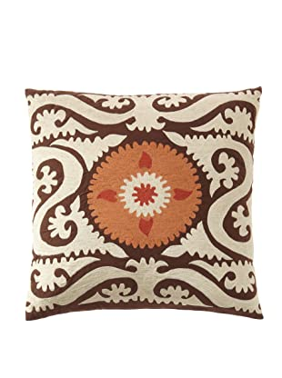 Abigails Square Suzani Pillow, Taupe/Gold