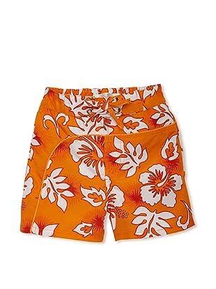 TroiZenfantS Boy's Hawaii Swim Trunks (Orange)