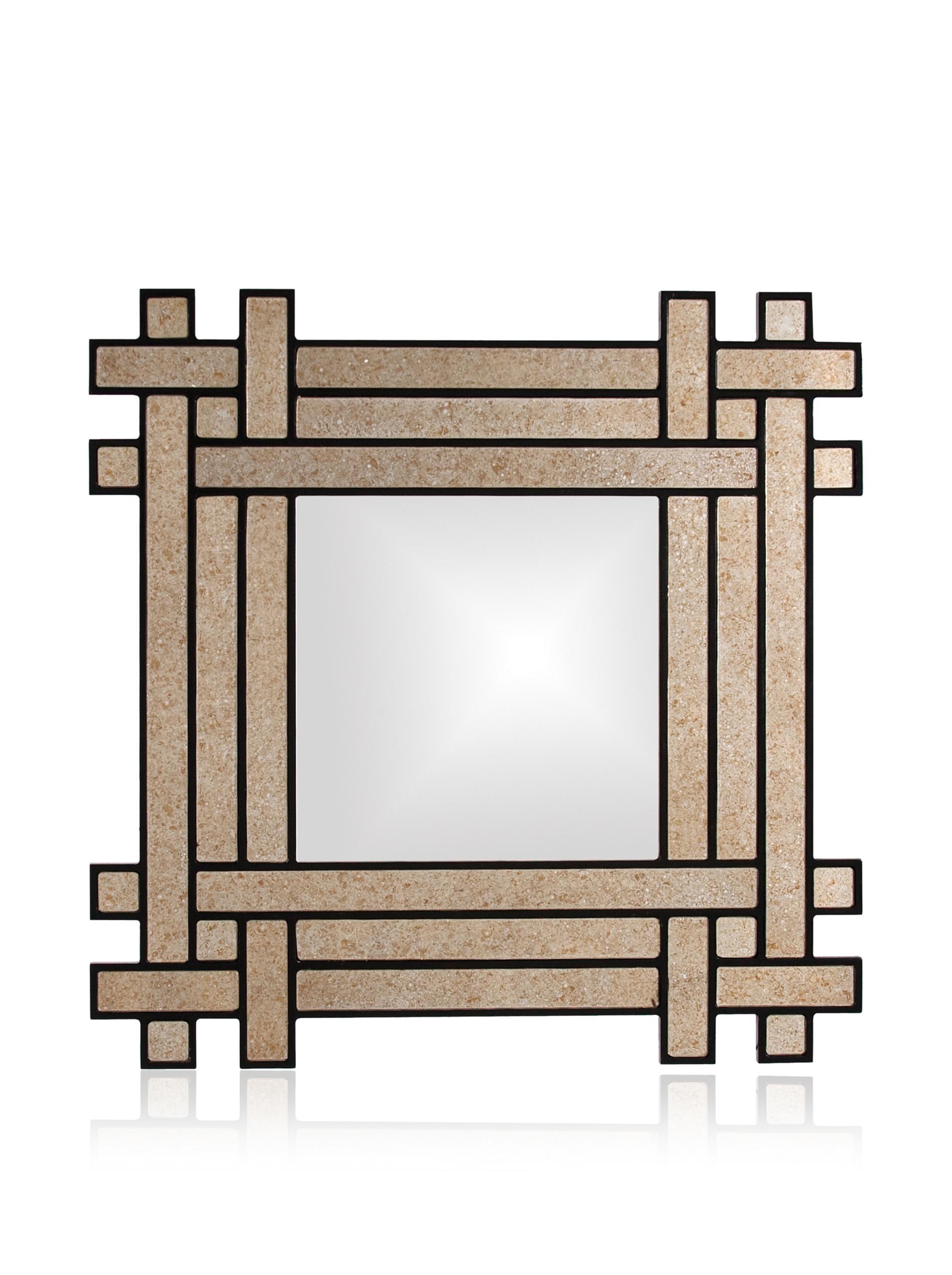 Elan Mirror, Antiqued Mirror/Black
