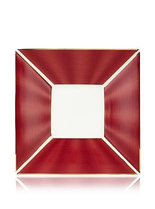 Nikko Ceramics Silk Square Plate (Rouge)