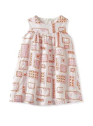 Charabia Girl's Sleeveless Dress (Orange)