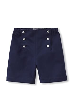Je suis en CP! Boy's Sailor Shorts (Navy Blue Pique)