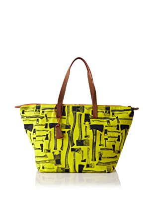 Loquita Women's Axe Top Zip Tote (Lime)