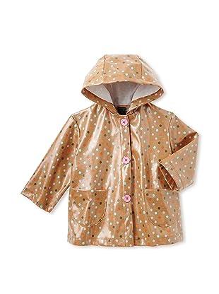 Mack & Co Girl's Hooded Raincoat (Brown Dot)