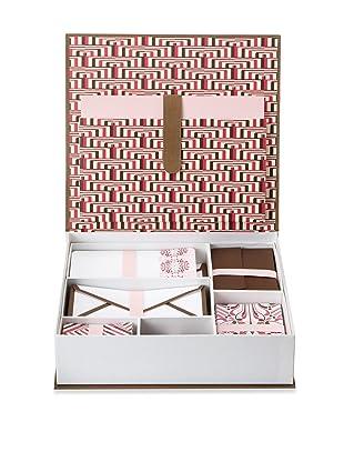 Elum Regency Desk Set Rasp/Choc, Pink/Chocolate