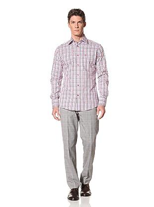 Moods of Norway Men's Kristian Vik Picnic Check Shirt (Navy/Red)
