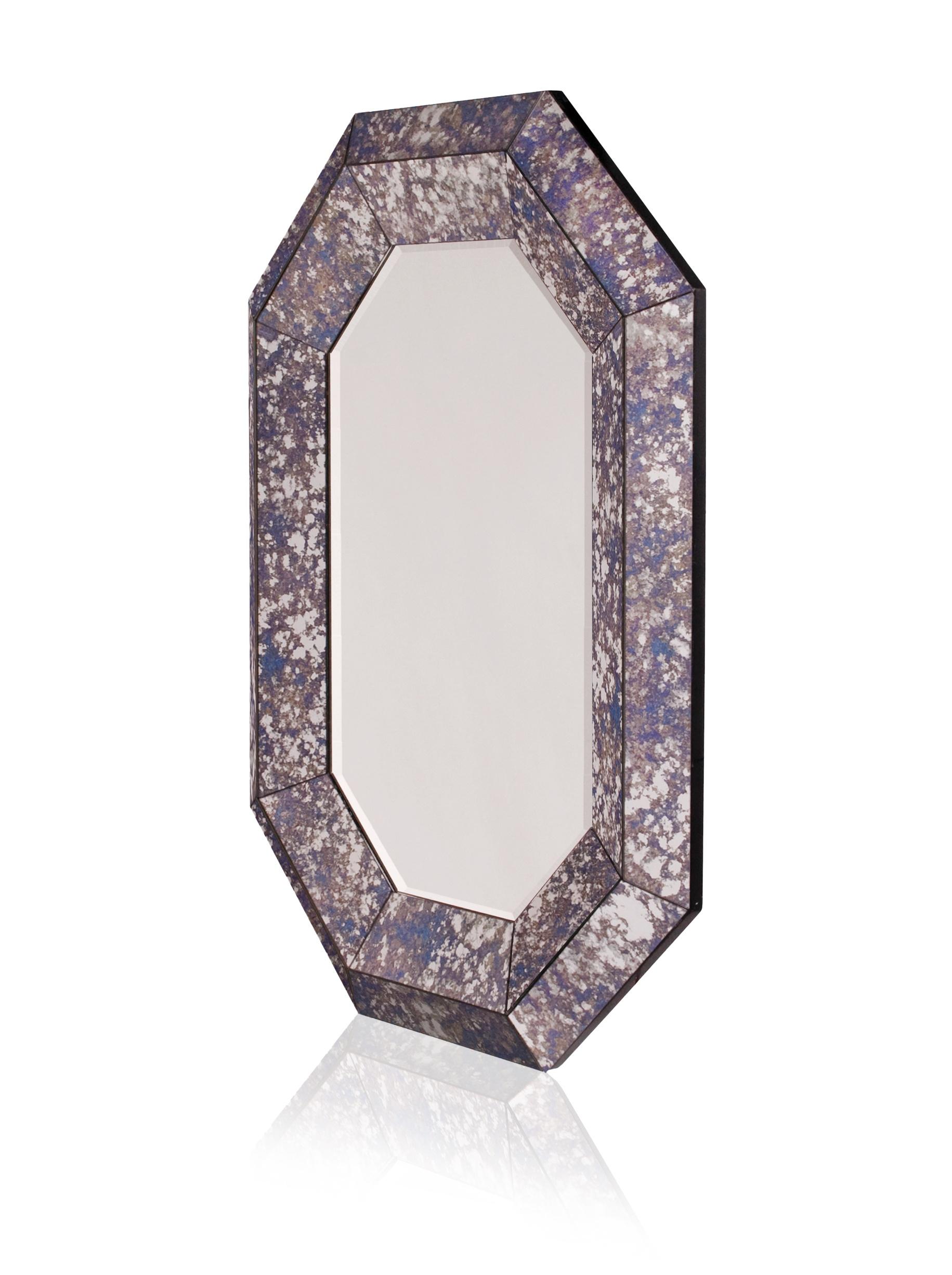 Brooke Mirror, Purple/Blue/Silver