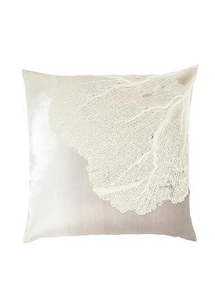 Aviva Stanoff Sea Fan Ombre Pillow, Ombre Smolder Ivoire