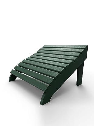Malibu Outdoor Furniture Contour Footstool (Turf Green)