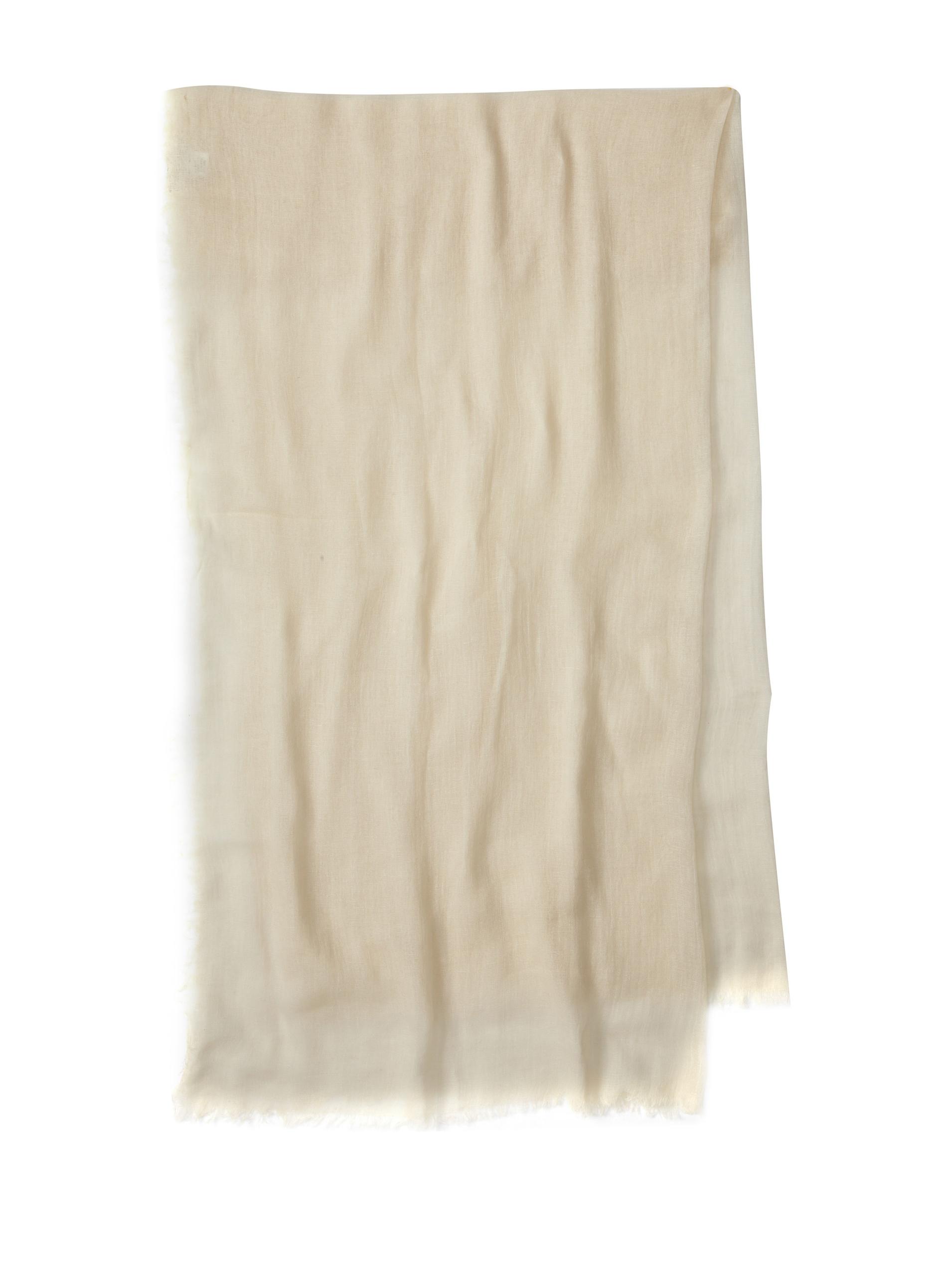 Carolina Amato Women's Cotton Gauze Wrap (Ivory)