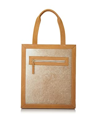 HARE + HART Carilo Calfhair Shopper Tote (Wheat)