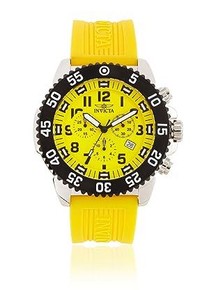 Invicta Men's 1106 Pro Diver Chronograph Yellow Dial Rubber Watch