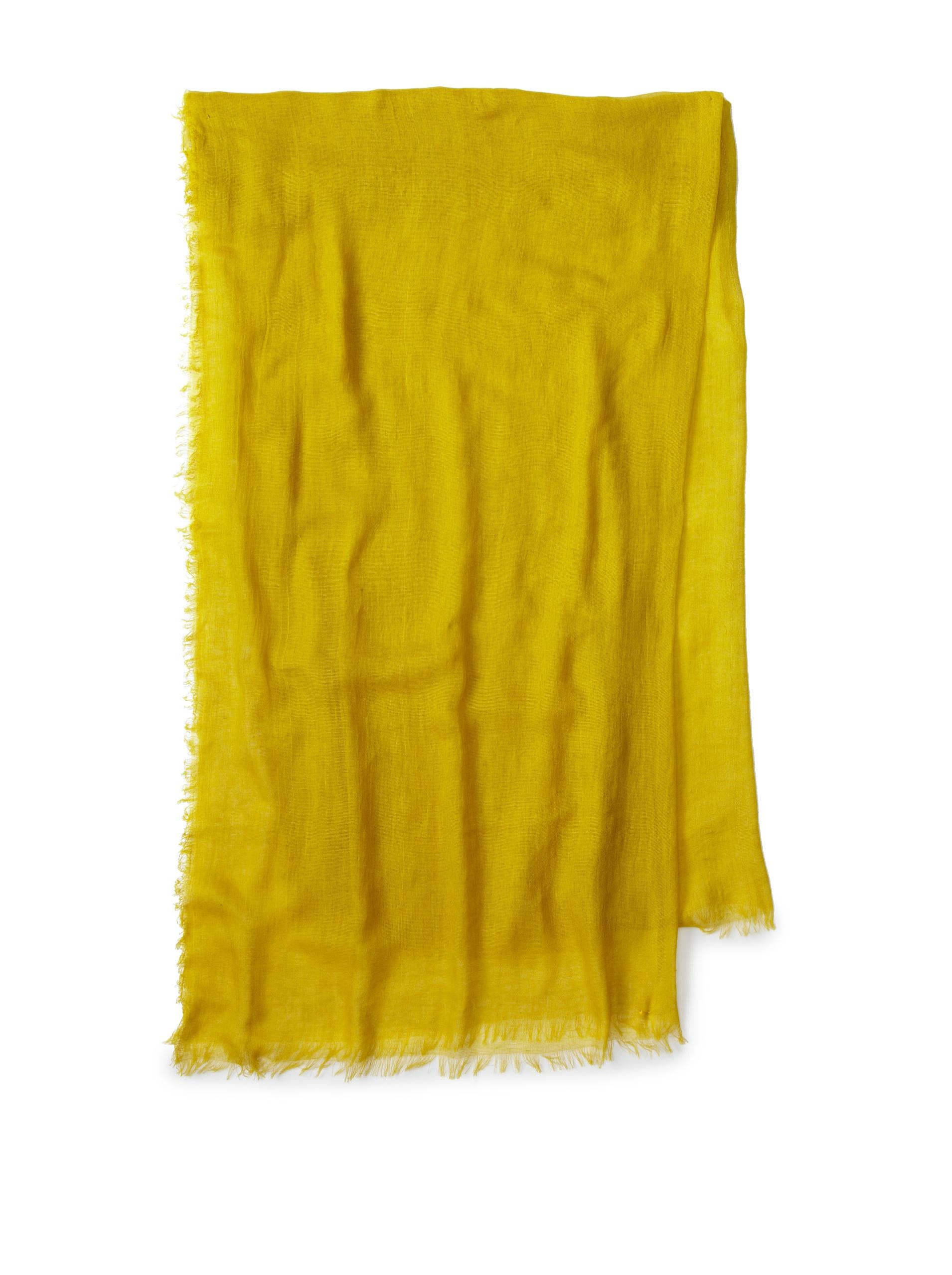 Carolina Amato Women's Cotton Gauze Wrap (Chartreuse)