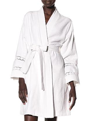 Oscar de la Renta Women's Textured Moment Wrap Robe (White)