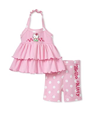 Hello Kitty Girls 2-Piece Shorts Set (Pink)