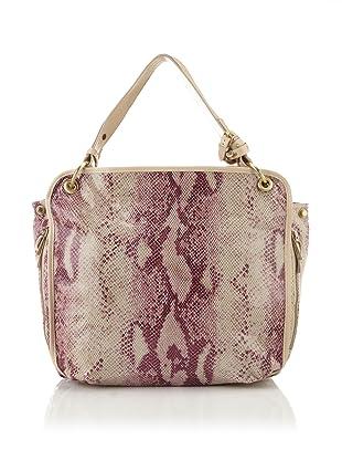 c.lili by Coralie Charriol Women's Lorena Embossed Leather Shoulder Bag (Plum)