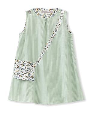 Je suis en CP! Like Mummy Dress (Green Stripes)