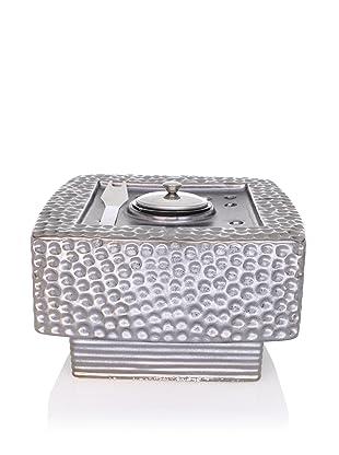 Pacific Décor Dania Pebble Flamepot (Silver)