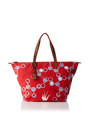 Loquita Women's Molecule Top Zip Tote (Red)