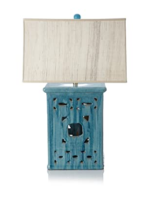 Emissary Square Lattice Table Lamp (Turquoise)
