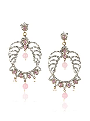 Taara Pink Crystal Chandelier Earrings