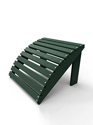 Malibu Outdoor Furniture Footstool (Turf Green)