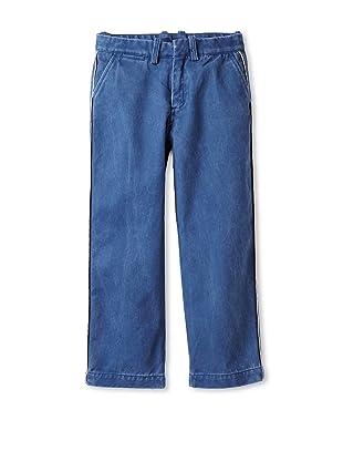 kicokids Boys Washed Cassidy Twill Trousers (Lapis)