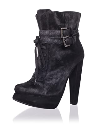 Plomo Women's Jimena Ankle Boot (Black Pony)