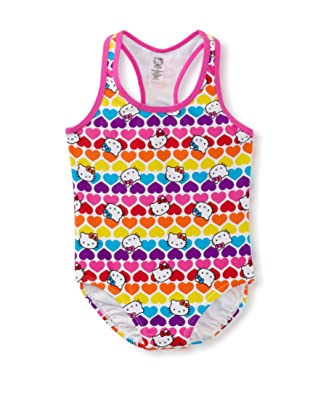 Hello Kitty Girl's 2-6X One Piece Swimsuit (Hot Pink)
