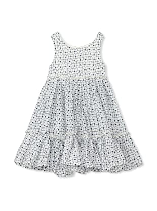 TroiZenfants Girl's Sleeveless Flower Dress (White)