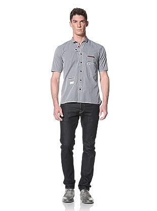Marshall Artist Men's Club Collar Short Sleeve Shirt (Bottle Green Check)