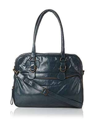 Latico Women's Fay Top-Zip Convertible Briefcase (Teal)
