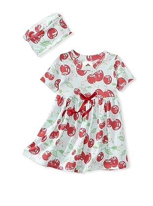 Barn Organics Baby Girl's Dolly Dress with Hat (Cherry Pie)