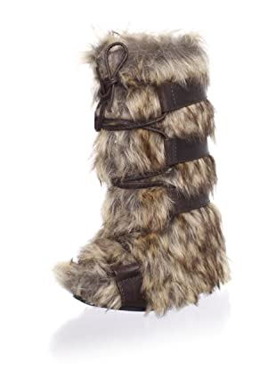 Joyfolie Kid's Zoe Faux Fur Boot (Brown)