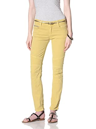 Rockstar Women's Biker Twill Jean (Mustard)