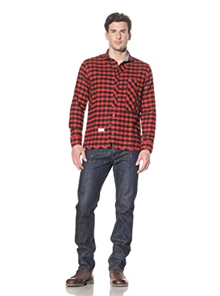 Marshall Artist Men's Tradesman's Shirt (Red/black)