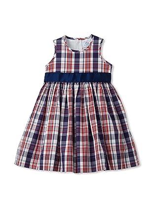 Baby CZ Girl's Belted Madras Dress (Red/Navy Madras)