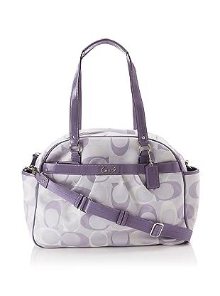 Coach Addison Tri-Color Signature Baby Bag Tote, Lilac