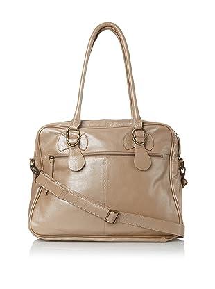 Latico Women's Fay Top-Zip Convertible Briefcase (Metallic Taupe)