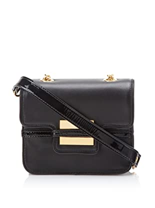 Z Spoke Zac Posen Women's Small Shoulder Bag with Chain Strap (Black)