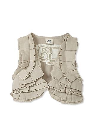 Bebe Bushh Girls Ruffle Vest (Beige)