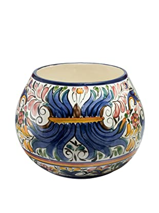 NOVICA Ceramic Flower Pot, Colonial Bouquet