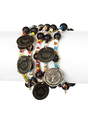 Mercedes Salazar Buddha Beads & Charms Bracelet Set
