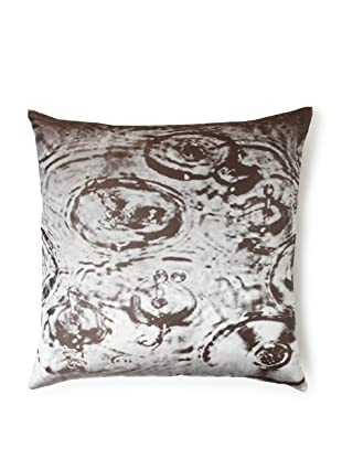 Rose and Iris Silk Jacquard and Down Pillow (Raindrop)