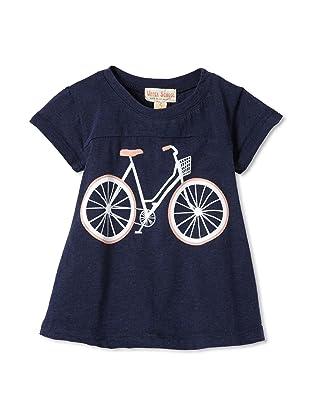 Upper School Girl's Bicycle Babydoll Top (Navy)
