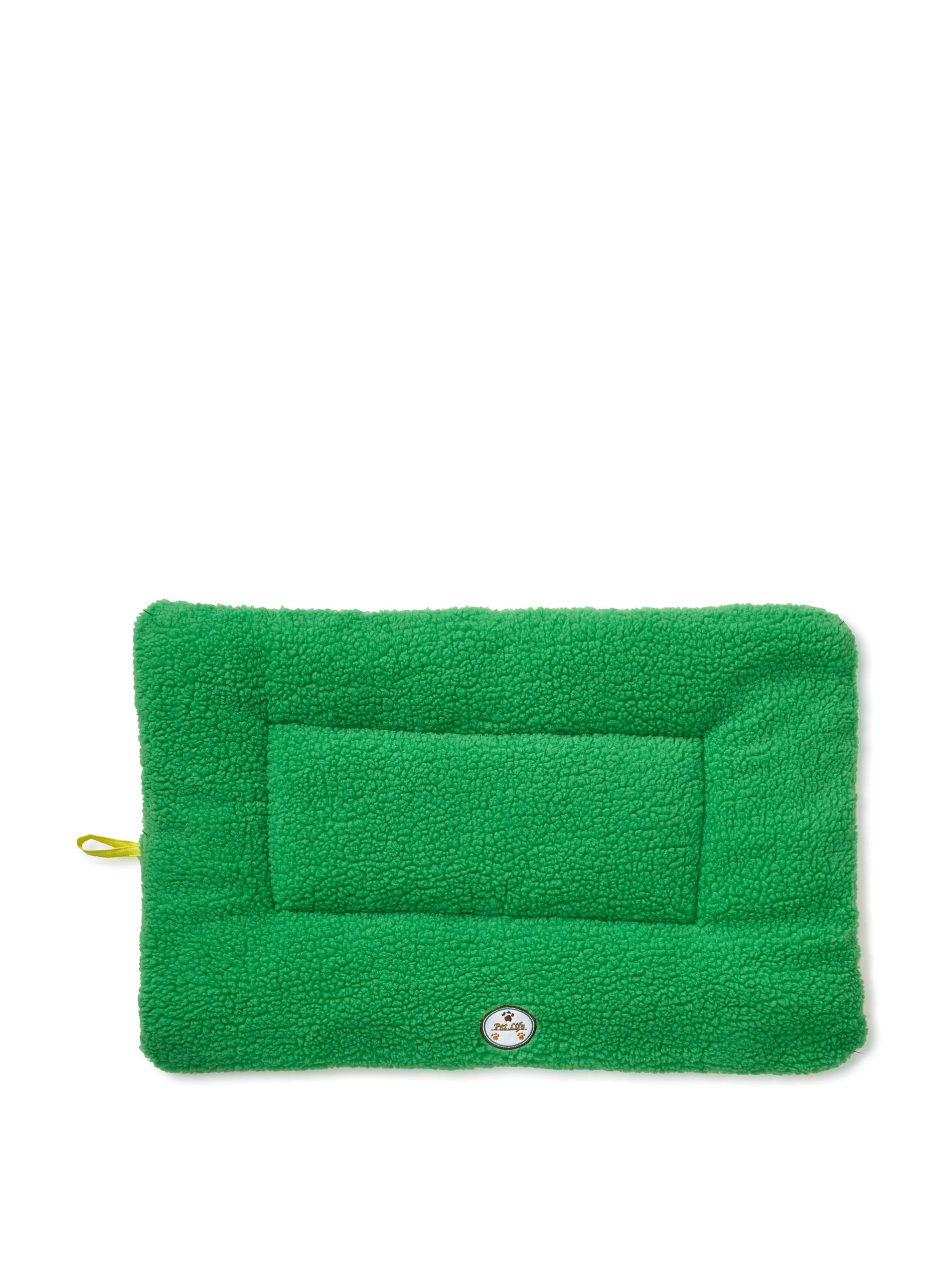 Pet Life Eco-Paw Reversible Pet Bed (Green/Yellow)