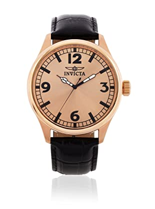 Invicta Men's 11419 Specialty Rose Dial Black Leather Watch