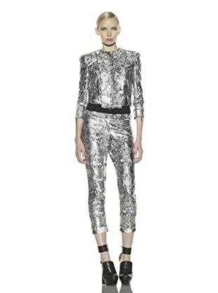 Costume National Women's Metallic Jacquard Cropped Jacket (Lamé)